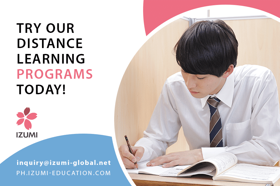 Try izumiu2019s distance learning programs today
