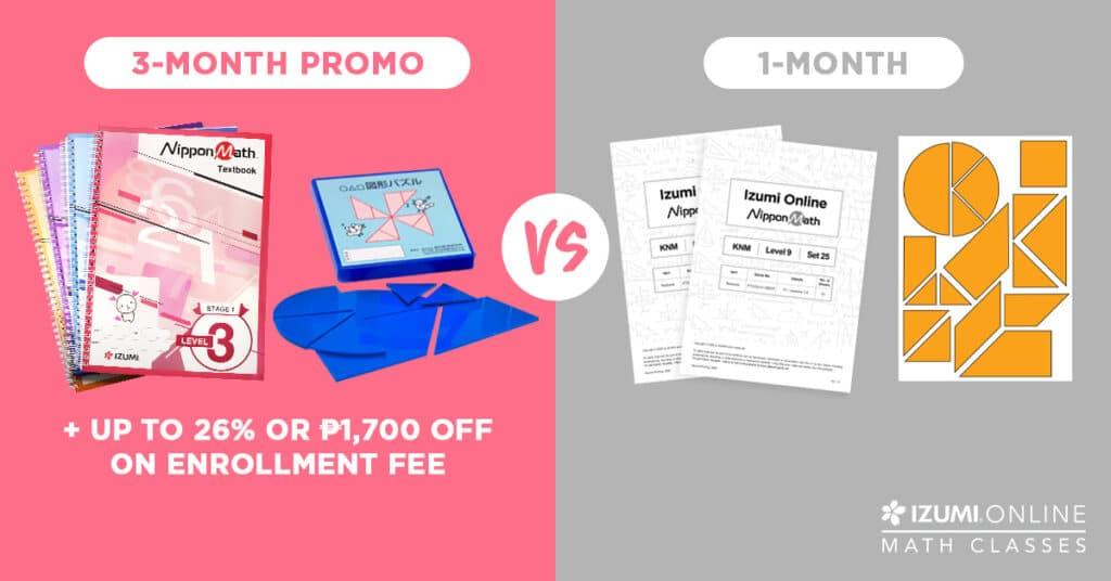 3 month promo online math class