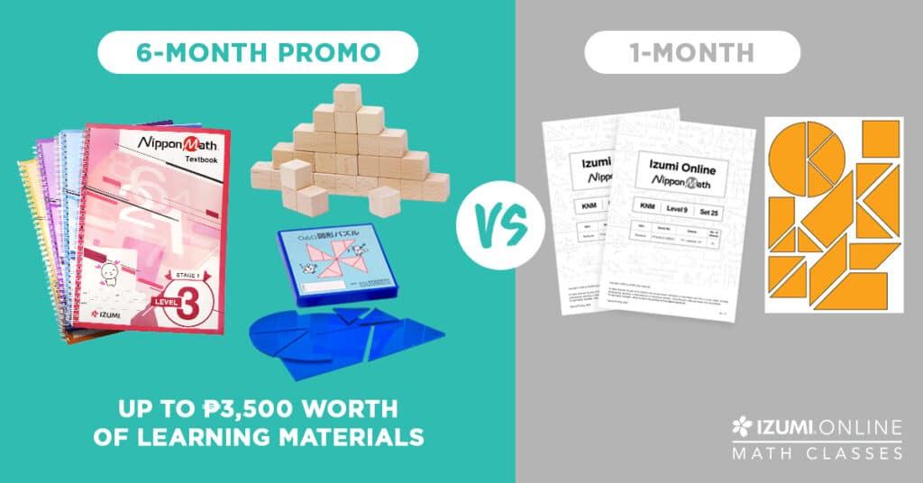 6 month promo online math class